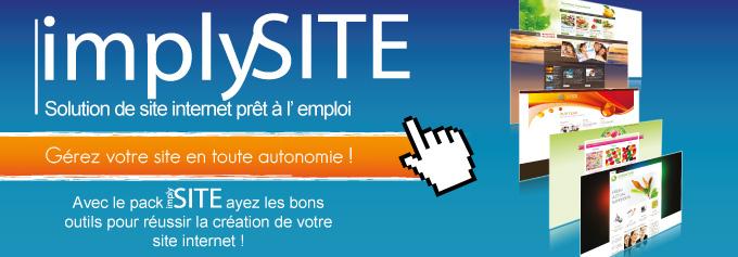 ImplySITE - créer son site en toute autonomie ! Solution de site internet prêt à l'emploi. Avec le pack implySITE ayez les bons outils pour réussir la création de votre site internet !